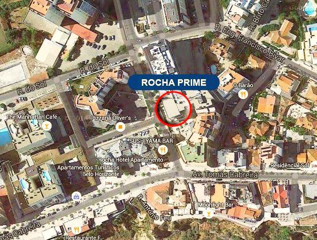 EMARP - Mapa de localização do parque de estacionamento Rocha Prime na Praia da Rocha